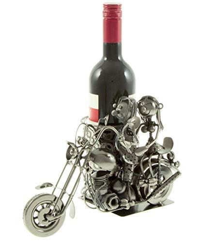 edler Flaschenhalter aus Metall Flaschenständer Motorrad