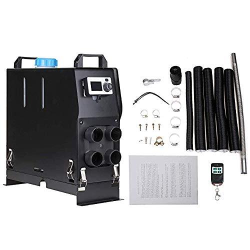 WHWXQ diesel luchtverwarmer 12V 5KW, 4-gats staande verwarming draagbare autoverwarming met LCD-schakelaar en afstandsbediening voor bestelwagens, aanhangers, boten (zwart)