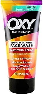 OXY Maximum Action Sensitive Advanced Face Wash, 5 ounce bottle