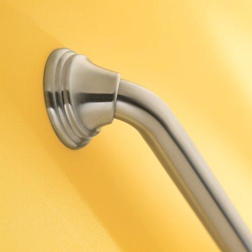 Moen LR8716D3BN Home Care 16-Inch Designer Bath Safety Bathroom Grab Bar with Concealed Screws, Brushed Nickel