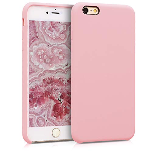 kwmobile Hülle kompatibel mit Apple iPhone 6 Plus / 6S Plus - Handyhülle gummiert - Handy Case in Peach Skin