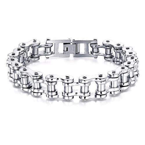 mengnuo Bracelet de chaîne de Motard en Acier Inoxydable Bracelet pour Hommes chaîne à maillons Moto Style de vélo Bracelets de Mode Bracelets Punk Bijoux