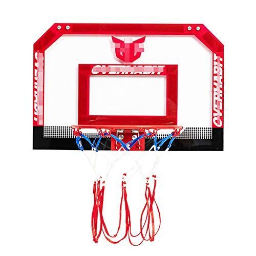 MHCYKJ Mini Canasta De Baloncesto para Casa La Puerta Interior Aro En Sala Oficina Junta Niños Deportes Ocio con Balón Y Bomba