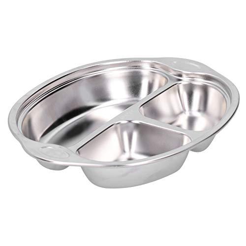 Qqmora Plato de Comida para niños fácil de Limpiar Plato de Comida Vajilla para niños de Doble Cara Resistencia a Altas temperaturas para restaurantes Infantiles para picnics