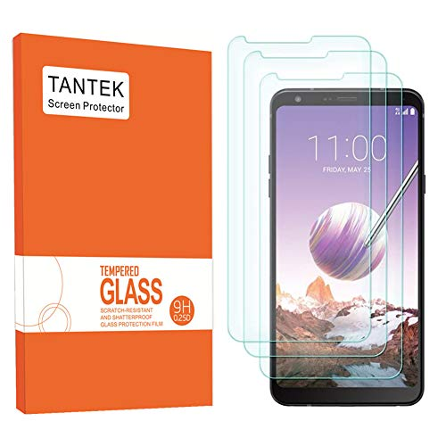 TANTEK Screen Protector for LG Stylo 4 / LG Stylus 4,6.2-Inch,Tempered Glass Film,Ultra Clear, 3-Pack