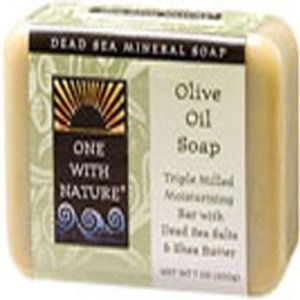 Almond Bar Soap, Hemp, 7 Oz by One with Nature (Pack of 4)