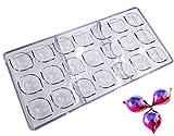 Moldes para chocolate, 21 moldes de plástico transparente con forma de diamante, hechos a mano, de...