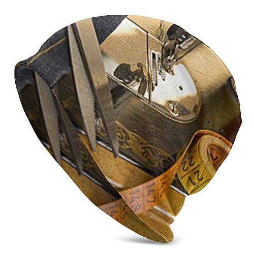 CVDGSAD Accesorios de máquina de Coser Vintage para Hombre de Gran tamaño Gorro de Punto Gorro para Verano Invierno