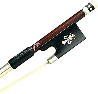 D Z Strad Violin Bow - Model 410 - Brazil Wood Bow with Ox Horn Frog and Fleur-de-Lis Inlay
