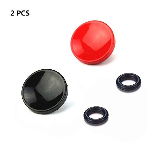 LXH 2 Pcs Rot + Schwarz Konkave Soft Metall Auslöser Kamera-Taste Messing für Fujifilm XT20/10 X100F X-T2 X100T X-PRO1/2 X100S X10/20/30 Leica M-Serie Olympus PEN-F
