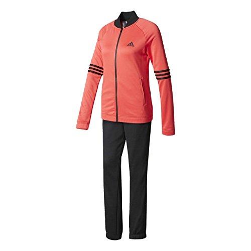adidas Cosy TS Trainingsanzug für Damen, Rosa (Rosbas/Schwarz), 2XL