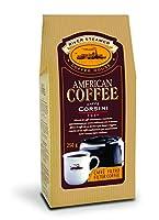 caffè corsini - american coffee miscela di caffè macinato per caffè americano, caffè lungo e caffè filtro, leggero e profumato - 6 confezioni da 250 grammi sottovuoto