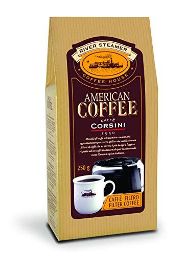 Caffè Corsini Miscela di Caffè Macinato per Caffè Americano, 6 x 250g