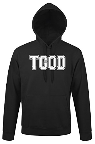 TRVPPY Herren Hoodie Kapuzenpullover Modell TGOD Taylor Gang, Schwarz, M
