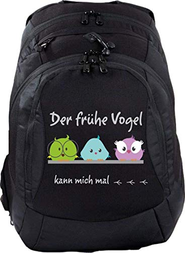 Sac à dos d'écolier Teen Compact Cartable Sac à Dos der Frühe Vogel Kann Mich Mal