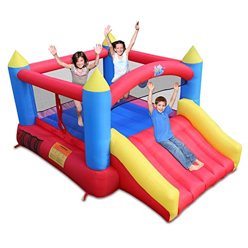 ACTION AIR 2021 Version Bounce House, Inflatable Bouncer with Air Blower, Jumping Castle with Slide,...