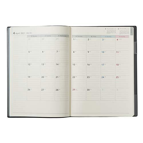 能率NOLTY手帳2021年4月始まりB5ウィークリーエクリ1ブラック9651
