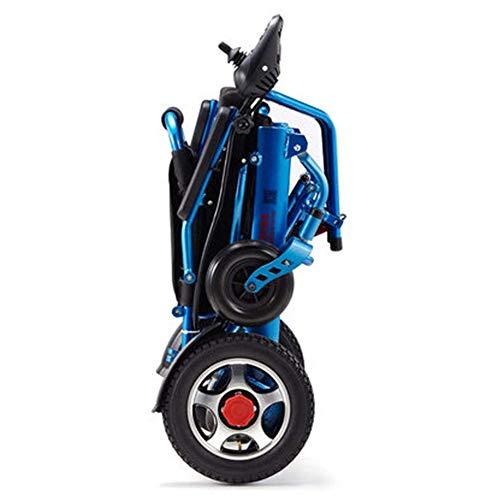 Nobuddy Ligera Silla de Ruedas eléctrica Plegable, eléctrica de aleación de Aluminio Silla de Ruedas, con Doble Motor Potente portátil de Viaje para los inválidos y Ancianos Movilidad