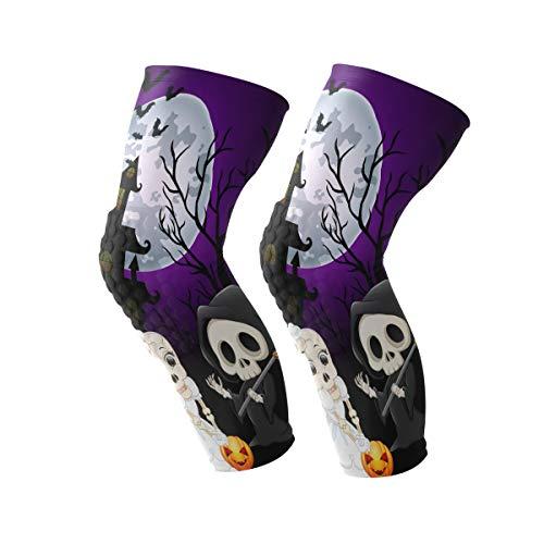 Coosun - Rodillera para Halloween, luna, noche, rodillera, soporte de compresión para correr, artritis, lágrimas de menisco, deportes, alivio del dolor en las articulaciones y recuperación de lesiones