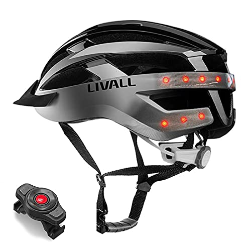 LIVALL MT1 Smart Bike Helmet, Wireless Turn Signals Tail Lights, SOS Alert, Built-in Mic, Bluetooth Speakers, Safe & Comfortable, Cycling Mountain Bluetooth Helmet