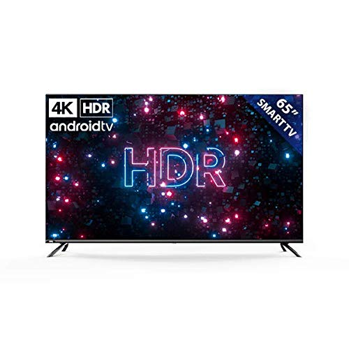 KAGIS U65IP7UHD 164cm (65 Zoll) Monitor/TV ohne Tuner (4K Ultra HD, HDR, Kein Tuner, Smart-TV, Android TV 9, Fernbedienung mit Mikrofon, Video, Netflix und YouTube)