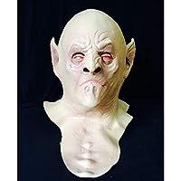 禿げた形のラテックス悪魔マスク、怖い老人の首のフード、バーパーティーCOSはトリッキーで怖い(Color:B)