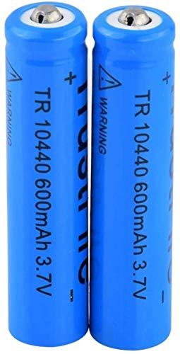 10440 3.7V 600Mah Baterías De Litio Baterías Recargables para Antorcha Control Remoto 2Pcs