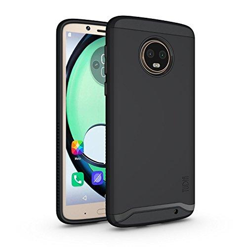 TUDIA Motorola Moto G6 Plus Hülle, Slim-Fit Merge Dual Layer Schutzhülle für Motorola Moto G6 Plus (Matte Black)