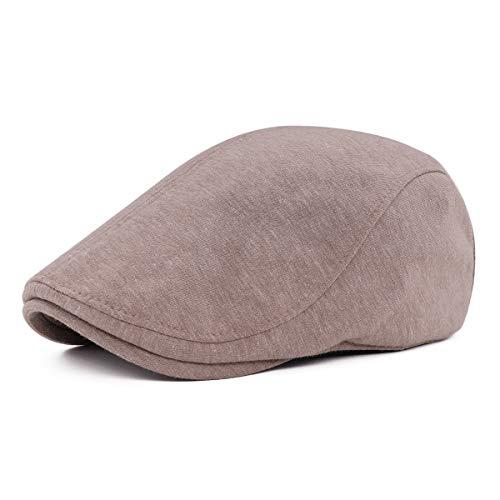 Gisdanchz Baumwolle Schiebermütze Schirmmütze Schiebermützen Flatcap Herren Flat Cap Gatsby Newsboy Hat Kaffee