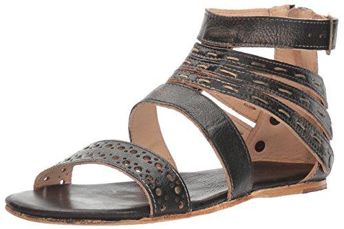 Bed|Stu Women's Artemis Leather Sandal (6.5 M US, Black Handwash.)