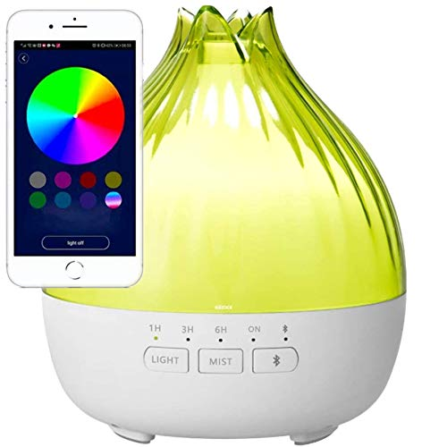 350ml Humidificador de aromas, Altavoces Bluetooth,humidificador, que es muy silencioso y nosotros usamos como difusor de aromas en el salón/Lámpara Fragante/Ahora la casa siempre huele fantástica