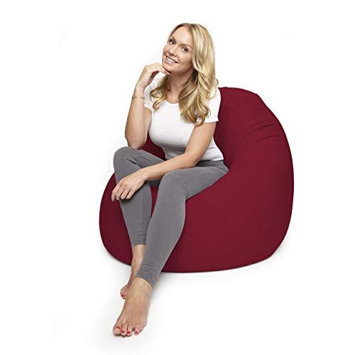 Lumaland Flexi Comfort Sitzsack Premium Bean Bag Sitzkissen Medium 142 x 84 cm Rot