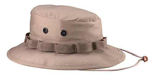 Khaki Ultra Force Boonie Hat in Rip-Stop - Size 7 3/4