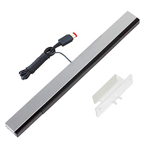 YiYunTE Sensor Bar para Wii Barra de Sensores con Cable para Juegos Barra Sensora de Movimiento Rayos Infrarrojos con Puerto USB Compatible con Wii y Wii U