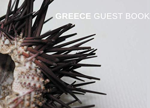 Greece Guest Book: Echinus | Greek Theme Welcome Book for Holiday Home Rental, Airbnb, B&B, VBRO and Vacation Rentals