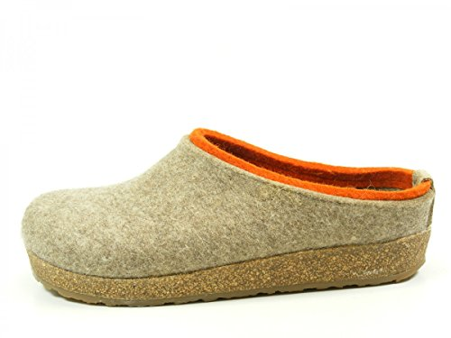 HAFLINGER Unisex-Erwachsene Kris Grizzly Pantoffeln, Beige (Torf 550), 45 EU