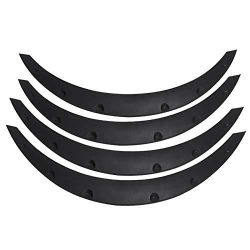 Uniwersalne błotniki samochodowe, 4-częściowe kołpaki na brwi uniwersalna osłona błotnika do brwi do opon samochodowych ochrona przed błotem brwi przedłużanie błotników łuków ochraniacz koła