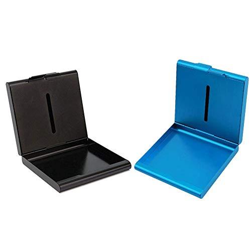 INTVN Portasigarette metallo 20 sigarette- alluminio portasigarette classisco ed elegante per 20 sigarette