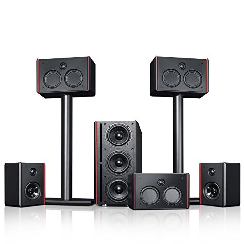 Teufel System 4 THX Schwarz Heimkino Lautsprecher Film Movie Kino Sound Musik Surround High End HiFi Speaker Subwoofer Raumklang Tieftöner 5.1
