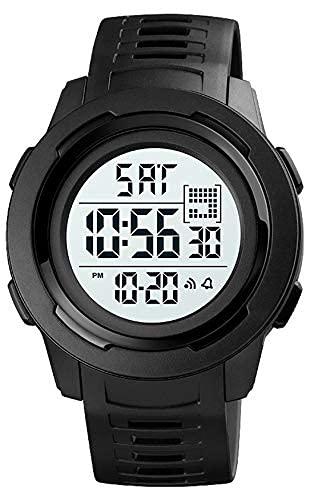 Relojes deportivos digitales para hombre para hombres relojes de pulsera a prueba de agua del ejército con cronometrador de alarma