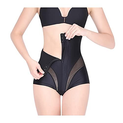GDYJP Trainer de cintura Cuerpo Thaper Mujeres adelgazando ropa interior alta cintura en forma de bragas Bragas Tope Levantador sin costura Panty Shaper (Color : Black, Tamaño : M)