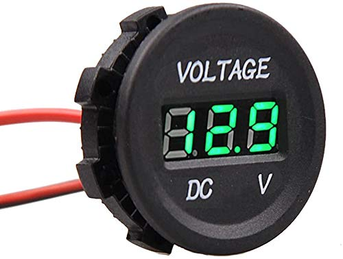 Sprie/ßen 6-73V LED Digital Battery Capacity Monitor Lithium Battery Universal Green Screen Waterproof di commutazione Voltaggio Volt Meter Capacit/à della batteria Meter Voltmetro