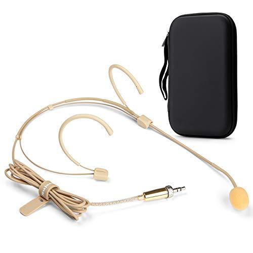 Sujeetec Microphone Serre-tête Microphone de tête Tour d'oreille Compatible avec Sennheiser Émetteur sans Fil G1 G2 G3- Unidirectionnel Condenseur Microphone