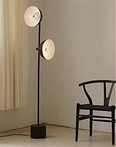 Lámparas de pie LED Retro Industrial Viento Creativo Sala De Estar Dormitorio Estudio Negro Hierro Vertical Lámpara De Piso Ojo Cuidado Vertical Suelo Luz Diseño Accesorio Arcaizar Encendiendo FKKLGNB