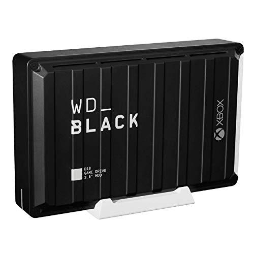 WD_BLACK D10 Game Drive para Xbox de 12 TB - 7200RPM con refrigeración activa para guardar tu enorme colección de juegos Xbox