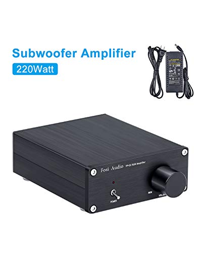 Subwoofer Amplifier TDA7498E Mini Sub Bass Amp Digital Class D Integrated Subwoofer Amplifier 220Watt x 1 Fosi Audio TP-02