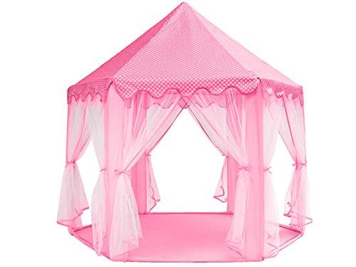 ISO TRADE Zelt Kinder Burg Prinzessinnen 3 Farben Palast Vorhänge Verzierungen Stehhöhe 89cm 6104, Farbe:Rosa