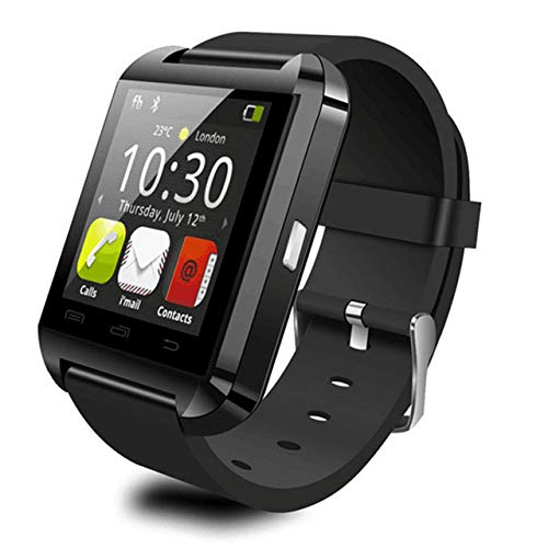 ZXCVBW Tragbare Smartwatch Bluetooth 3.0 Smartwatch U8 Tragbares Armband Dial Call Fitness Tracker Musik Foto Chat Smartphone, Schwarz