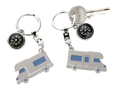 Gilde Schlüsselanhänger Wohnwagen Wohnmobil mit Kompass