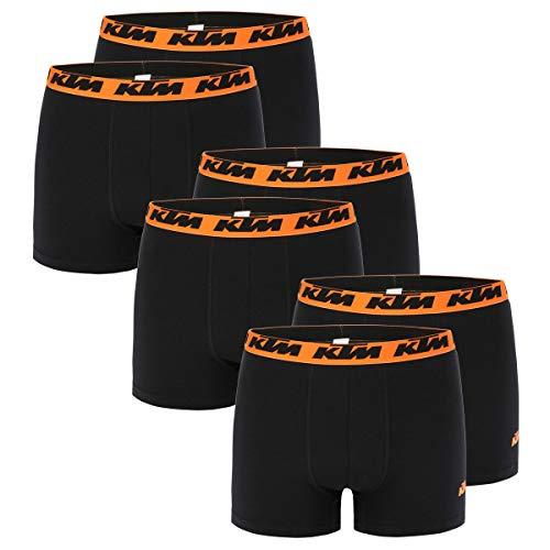 KTM Boxer Men Herren Boxershorts Pant Unterwäsche 6 er Pack, Farbe:Black2, Bekleidungsgröße:S